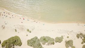 Drone view of a cove in Sardinia stock video