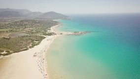 Drone view of a cove in Sardinia stock video footage