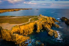 Drone view of Quiberon Stock Photography