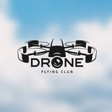 Drone vintage style label Stock Image