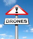 Drone warning concept. Royalty Free Stock Photography