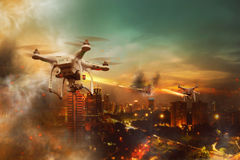Drone Wars Concept Royalty Free Stock Photo