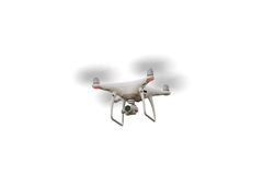 Drone. White back clipping mask royalty free stock photos