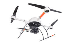 Drone on white background Royalty Free Stock Images