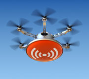 Drone with wireless internet. Sign - 3D concept Royalty Free Stock Images