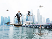 Drone at work Royalty Free Stock Photography