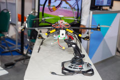 Drones. BANGKOK ,THAILAND - JULY 18: join control for hand made drones in Engineering Expo 2015 , on JULY 18, 2015 in Bangkok, Thailand stock images