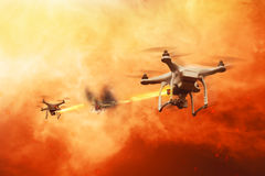Drones battle Stock Photography