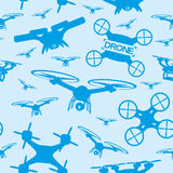 Drones on a blue background. Stock Photography