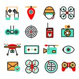 Drones Icon Set Stock Photo