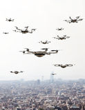 Drones invasion background Royalty Free Stock Photography