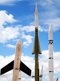 Drones, Missiles and Rockets. Against a Cloudy Sky Royalty Free Stock Photos
