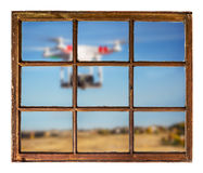 Drones and privacy violation concept Royalty Free Stock Images