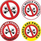 Drones are prohibited Royalty Free Stock Photography