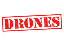 DRONES. Red Rubber Stamp over a white background royalty free illustration