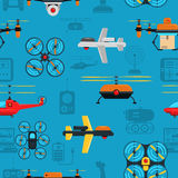 Drones Seamless Background Royalty Free Stock Image