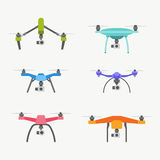 Drones set Royalty Free Stock Image