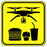 Drones to deliver Fast Food Stock Images