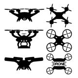 Drones on a white background. Stock Photos