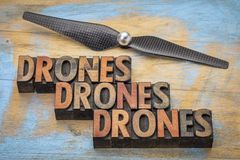 Drones word abstract Royalty Free Stock Photography