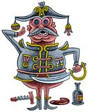 Dronken ambtenaar met een sabel Stock Foto