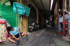 Dronken Aziatische Mens royalty-vrije stock fotografie