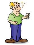 Dronken het drinken bier Stock Foto