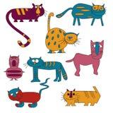 Dronken katten Stock Afbeeldingen