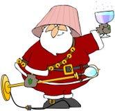 Dronken Kerstman Stock Afbeelding