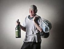 Dronken mens Stock Foto's