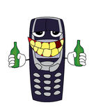 Dronken telefoonbeeldverhaal Stock Afbeelding