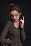 Dronken vrouw Stock Foto's