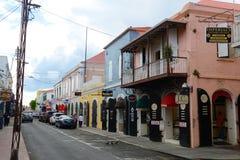 Dronningens Gade, Charlotte Amalie, US Virgin Islands Royalty Free Stock Images