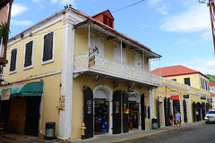 Dronningens Gade, Charlotte Amalie, US Virgin Islands Royalty Free Stock Image