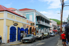 Dronningens Gade, Charlotte Amalie, US Virgin Islands Stock Photos