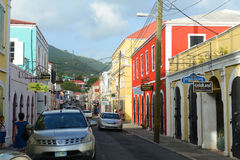 Dronningens Gade, Charlotte Amalie, US Virgin Islands Royalty Free Stock Photo