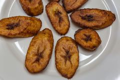 Dronte, plantain frit un aliment délicieux de Yoruba photos stock