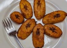 Dronte, plantain frit un aliment délicieux de Yoruba photographie stock libre de droits