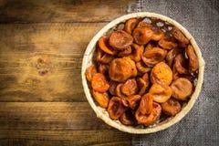 Droog apricots-dried abrikozenfruit royalty-vrije stock fotografie