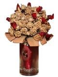 Droog boeket van rozen en robijnen Stock Fotografie