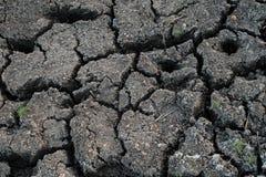Droog de gebarsten achtergrond van de aardetextuur Gebarsten grond of modderpatroon, Oppervlakte van droogteland stock afbeelding