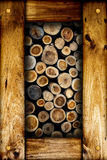 Droog de logboeken van het besnoeiingsbrandhout Stock Afbeeldingen