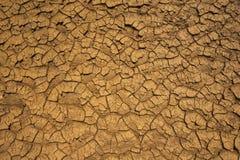 Droog gebarsten aarde Stock Foto