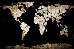 Droog Gebarsten Aarde royalty-vrije illustratie