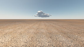 Droog Gebarsten aarde met wolk royalty-vrije illustratie