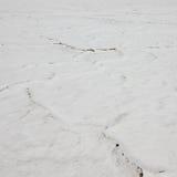 Droog gebarsten Great Salt Lake. Textuur. Utah, de V.S. Royalty-vrije Stock Fotografie