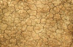Droog gebarsten modder natuurlijke abstracte achtergrond. Stock Afbeelding