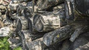 Droog gehakt niet brandhout het programma opent een stapel Royalty-vrije Stock Foto's