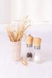 Droog gras en geplaatst voor kruiden Royalty-vrije Stock Foto's