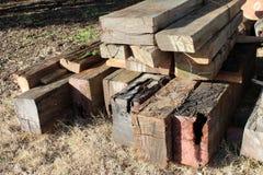 Droog hout van oude houten pier royalty-vrije stock afbeeldingen